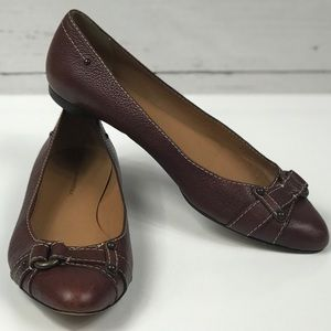 Brown Leather Flats Banana Republic Size 9